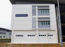 Block / Faculty Identification Sign for UITM, Mukah, Sarawak