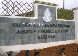 Gate Sign for Sarawak Prison Department