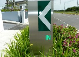 Traffic Directional Sign for SARAWAK ENERGY Headquarters, Kuching