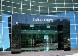 Entrance Sign for SABAH PORTS, Kota Kinabalu, Sabah