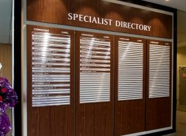 Directory Sign for GLENEAGLES HOSPITAL, Kota Kinabalu, Sabah