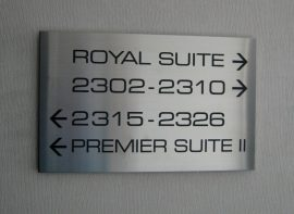 Stainless Steel Directional Sign