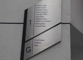 Stainless Steel Floor Directory Sign