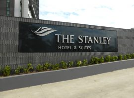 Entrance Sign for The Stanley Hotel, Papua New Guinea