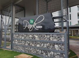 Monument Sign for The Park Residence Condominium, Kuching